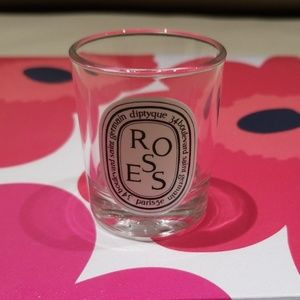 Diptyque Roses empty candle holder